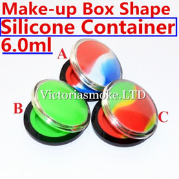 Newest Make-up silicone containers Box Shape Wax Containers silicone box 6ml Silicon container food grade wax jars dab silicone container