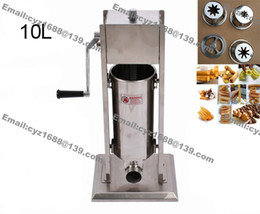 Wholesale Commercial Use Stainless Steel Hand Crank L Churro Churrera Making Machine Spanish Churros Maker Machine Filler