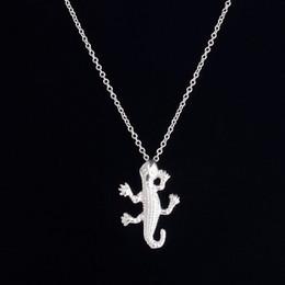Hot sale hippie chic gecko pendant drop necklace Bohemian fashion women Neclaces 2016 ms thin necklace