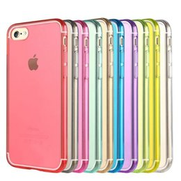 Wholesale Cell Phone Crystals Cover - Cell Phone Candy Cases For iPhone 7 Iphone7 I7 7G 7gen 7th Ultra Thin Clear Crystal Transparent Soft TPU Silicone Gel Back Cover