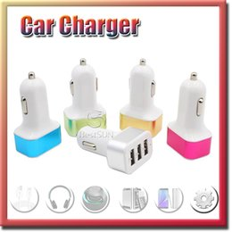 For iPhone 6s car charger traver Adapter car plug hot selling Triple 3 usb ports Car Charger with No package