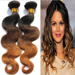 8A Brazilian Ombre Hair Bundles 3Pcs 1B 4 30 Ombre Three Tone Hair Weave Ombre Brazilian Body Wave Ombre Human Hair Extensions