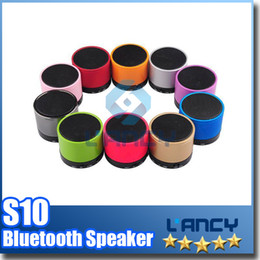 S10 Bluetooth Speakers Mini Wireless Portable Speaker HI-FI Music Player Stereo Subwoofers Home Audio Support TF Card FM Mp3 Player
