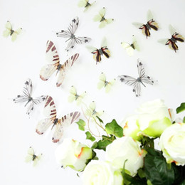 Transparent PVC 3D butterfly decoration removable wall home decor stickers butterfly new 2016 European and American