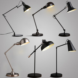 Wholesale E27 Modern minimalist fashion Nordic IKEA office bedroom study desk lamp work long arm lamp Indoor Lighting table lamps
