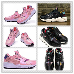 Wholesale Famous Women Aloha Air Huarache Run Sport Shoes Classic Girls Floral Print Huaraches Sports Running Shoes Trainer Sneakers Size