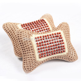 Wholesale by China Post Popular ego health Bead Car headrest Car Seat Pillow backrest ice silk Pillow