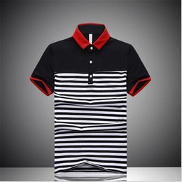 Wholesale New Listing Hedge Striped Shirt Summer High Quality Men s Outdoor Sports And Leisure Korean Cotton Shirt Polos