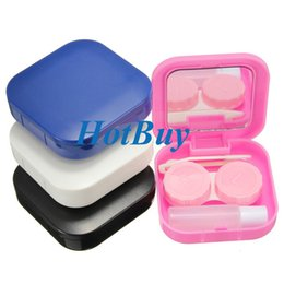 4 Colors Portable Cute Travel Contact Lens Case Eye Care Kit Holder Mirror Box Eyewear Accessories #3884