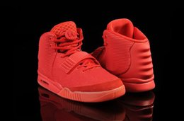 Wholesale Discount Kanye West shoes Red October Black Solar Red Men Athletic Basketball Shoes With Dust Bags Original Box
