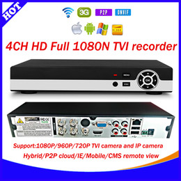 Wholesale 4CH Full real time fps N TVI AHD NVR DVR in CCTV Video Recorder Channel P AHD TVI Analog IP camera Four in one xmeye cloud
