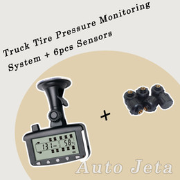 Wholesale Tire Pressure Monitoring System Car TPMS tools with External Sensors for Truck Trailer RV Bus Miniature passenger car