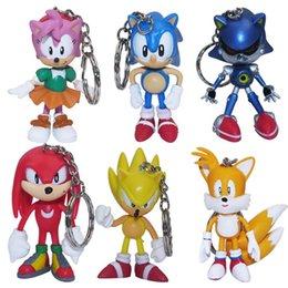 Wholesale Amy Kuckles Tails Sonic set Cartoon Vinyl Doll Key Chain Hotsale