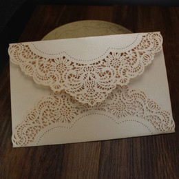 Wholesale Laser Cut Wedding Invitations Cards Engagement Marriage Party Invitation for Marriage Graduation Birthday Invites Card