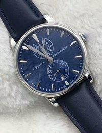 2016 brandswatch9u suggest new model blue dial Mens machanical hand-winding Automatic Watch