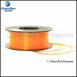 Wholesale 3D Printer Material kg lb mm Transparent orange PLA Filament Direct Manufacturer for Createbot d printer