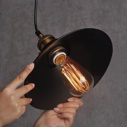 Wholesale Black w Pendant Lamps Retro Industrial Edison Simplicity Pendant Light Antique Old Factory Style Lamps v cm
