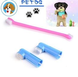 Wholesale Hot Soft Pet Finger Toothbrush Teddy Chihuahua Dog Brush Addition Bad Breath Tartar Teeth Care Dog Cat Health Cleaning Supplies free ship