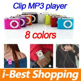 Wholesale Sport Mp3 Cheap Wholesale - Mini Clip MP3 Player Wholesale Cheap Sport Style Metal MP3 Players without Screen with Retail Box Earphone USB Cable - No Micro TF Cards