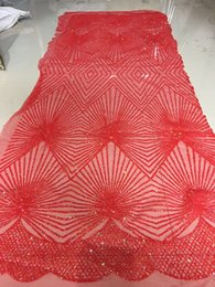 Wholesale Amazing party white African tulle lace French net lace fabric with glitters for sexy dress UN30 yards