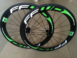 Wholesale FFWD F6R green decal carbon bicycle wheels carbon clincher mm wheelset C full carbon bike rims wheels full carbon k road bike wheels