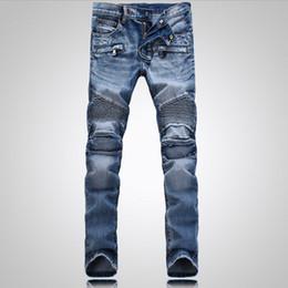 Wholesale Luxury balmai biker jeans for men New Fashion Man Cargo pants hip hop Casual true jeans vaqueros hombre famous brand designer mens jeans