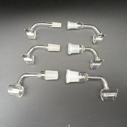 Wholesale 90 degree side pocket Honey bucket quartz nail Quartz Banger oil burner with Female and male Ground Joint mm mm mm mm joint