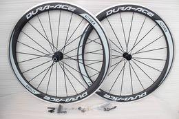Wholesale DIY carbon bike wheelsets full carbon fiber road bikes wheels rims basalt brake carbon bicycle wheel with skewer brake pad clincher wheelset
