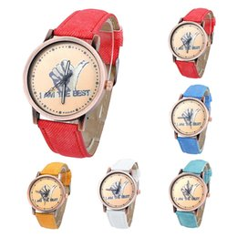 2016 Luxury Watches for Woman Denim Band Casual Thumb Round Dial Analog Watch Quartz Lady Watch Fashion Dress Watch for Woman