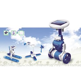 6-in-1 Rechargeable Solar Powered DIY Robots Kit Educational Toy for Kids Children