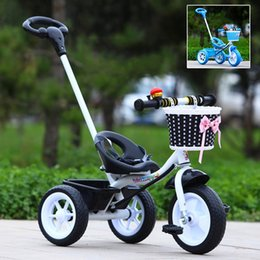 Wholesale Promotion Sale Baby Kids Bicycle Trike Pushchair Toddler Bike Tricycle Outdoor Ride On Toys JN0054 salebags