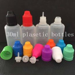 Fast Shipping Soft Style LDPE PET Needle bottles 30ml Empty plastic Dropper bottles E Liquid oil bottles