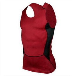 Tops sport homme sans manches à vendre-Gros-Men 's Tight respirante Sport Vest Compression Fitness \ Tank Top Athletic Hommes Bodybuilding Debardeur