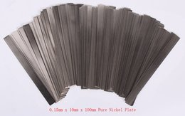 Wholesale 0 mm x mm x mm Pure Nickel Plate Strap Strip Sheets for Battery Spot Welding Machine Welder Equipment Tools