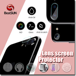 Wholesale Screen Tempered Glass Lens - NEW 7.5H camera screen protector for iphone7 0.2mm Tempered Glass lens screen protector Anti-Scratch anti-Oil lens protector