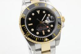 Wholesale Two tone BKSO Review watch men automatic ceramic bezel sapphire glass original buckle date watch mens dress wristwatches