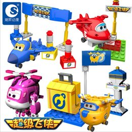 Wholesale New Super Wings Mini Planes Deformation Airplane Robot Action Figures Transformation Toys Boys Birthday Gift b259