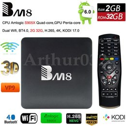 Wholesale BM8 Amlogic S905X Android TV Box Quad Core G G Penta core GPU G WiFi BT4 K VP9 H D HD P Kodi IPTV Media Player