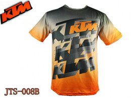 Wholesale KTM downhill riding running sports jersey breathable quick drying short sleeved T shirt off road mountain biking Breathable Anti U