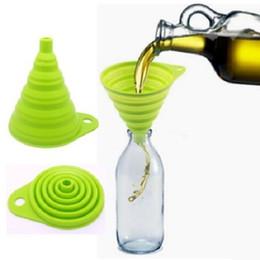 Wholesale Mini Silicone Collapsible Funnel Foldable Funnel for Liquid Transfer