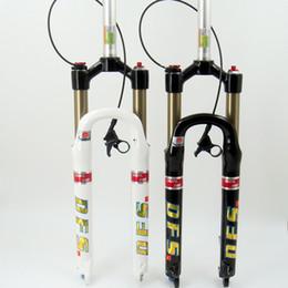 "DFS air fork DFS-RLC(DUAL AIR)-RCE 26er 27.5er suspension mountain fork bicycle MTB fork ROMOTE lock out damping adjust 100mm travel 1-1 8"""
