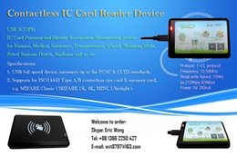 Wholesale USB Contactless IC Card Reader Writer PCSC CCID ISO Type A B cpu card memory card MIFARE classic with FREE SDK