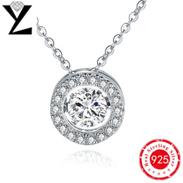 Best Friend Gifts Dancing Created Diamond 925 Sterling Silver Chain Women Pendant Necklace Wholesale Rhodium Plated Zircon Jewelry NP57620A