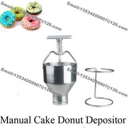 Wholesale Stainless Steel Handheld Pancake Doughnut Donut Depositor Dropper Dispenser Cutter Maker with Stand Holder
