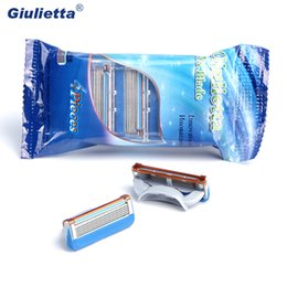 Giulietta Men Shaver Face Care Razor Blade Stainless Steel High Quality 4pcs 5Layers F5-LH
