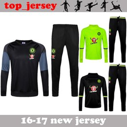 Wholesale Chelsea tracksuits HAZARD FABREGAS TERRY DIEGO COSTA KANTE best quality long sleeve tracksuit chelsea training jacket kit
