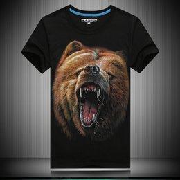 Wholesale Men s d Bear T shirt Selling Summer New Style Printing Creative Men Fangs Casual Cotton T Shirt