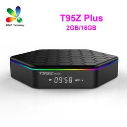 Wholesale 6pcs Original T95Z PLUS Android TV BOX S912 Octa core cortex A53 G G Android G G Dual band WiFi Bluetooth KODI mart Media Player