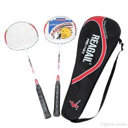 Lightweight Badminton Racquet 2Pcs Aluminium Alloy Training Badminton Racket with Carry Bag Sport Equipment Durable
