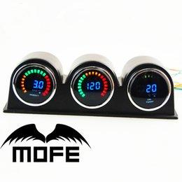 Wholesale Original Logo mm LCD Digital Bar Boost Gauge With Oil Pressure Air Fuel Ratio Meter Holes Gauge Pod Holders